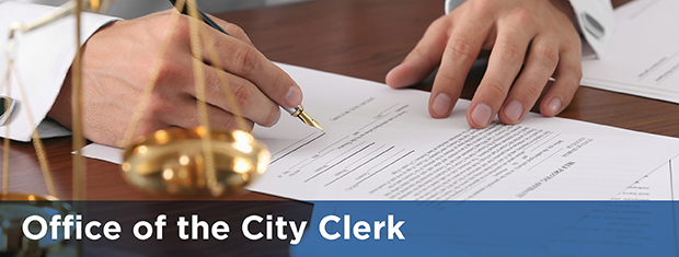Office of the City Clerk banner image